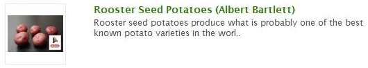 rooster seed potatoes